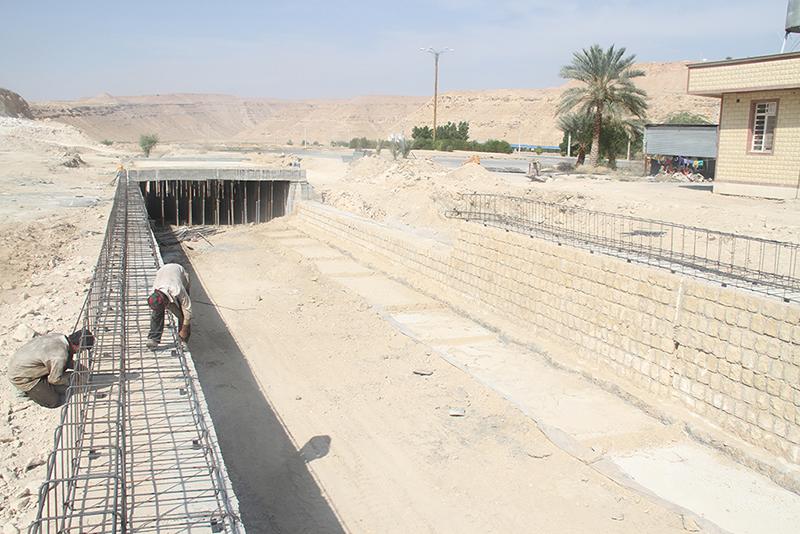 احداث پل لاين خروجي دارالرحمه جديد شهر لار - 10 آبان ماه 95